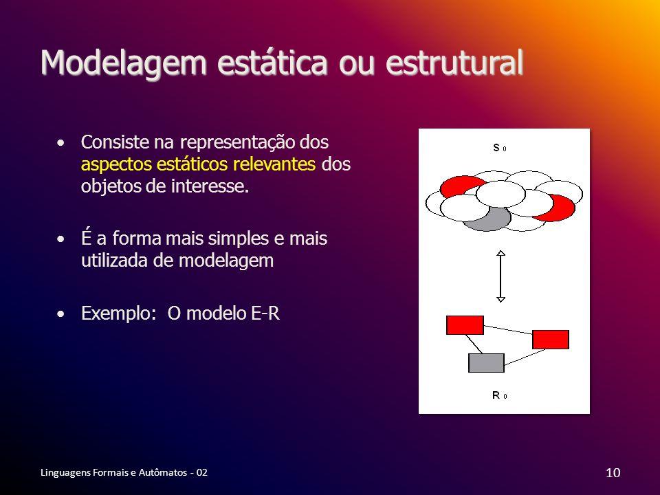 Modelagem estática ou estrutural