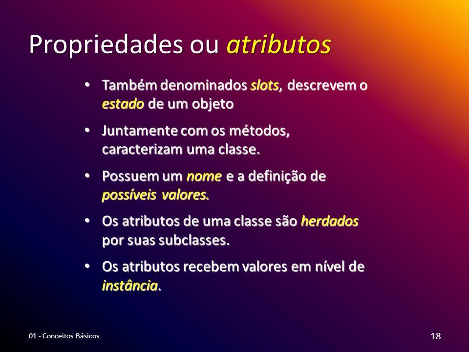 Propriedades ou atributos