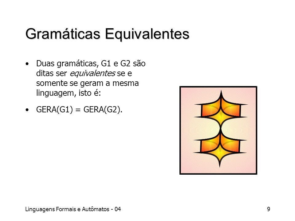 Gramáticas Equivalentes
