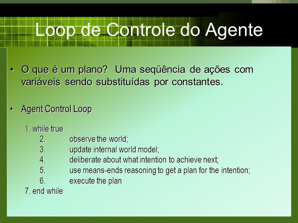 Loop de Controle do Agente