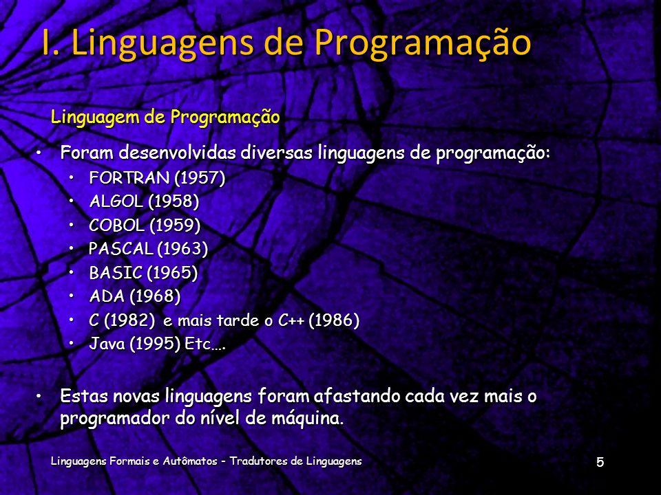 I. Linguagens de Programação