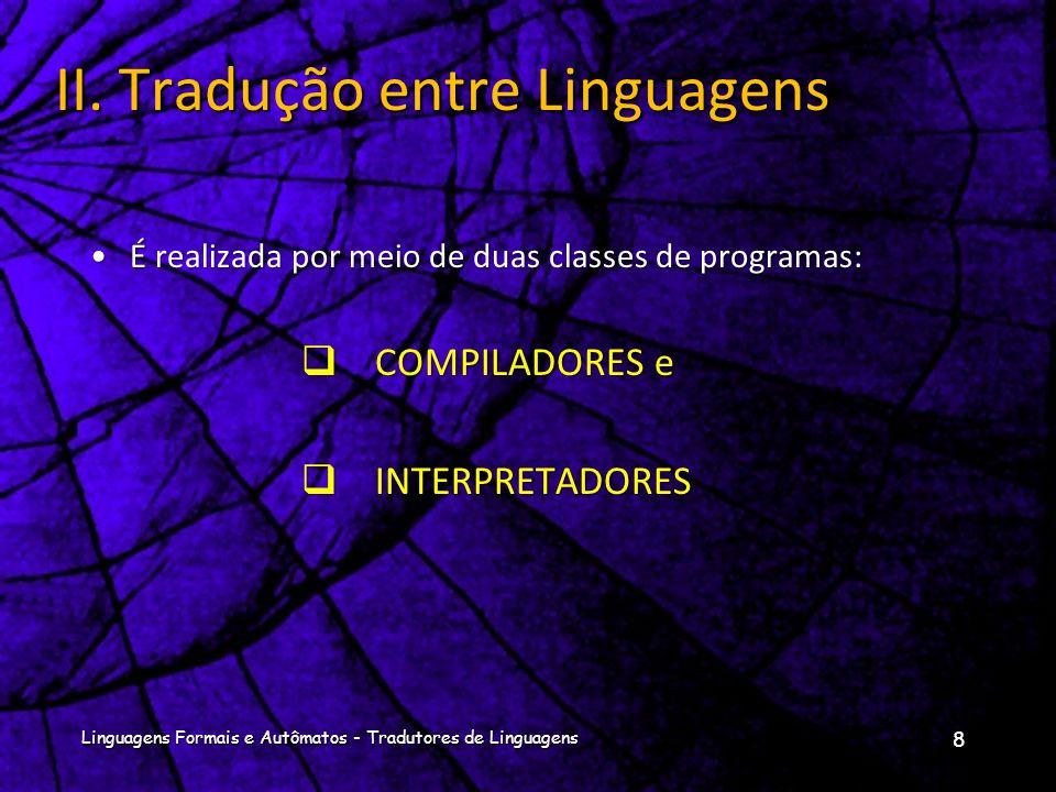 II. Tradução entre Linguagens