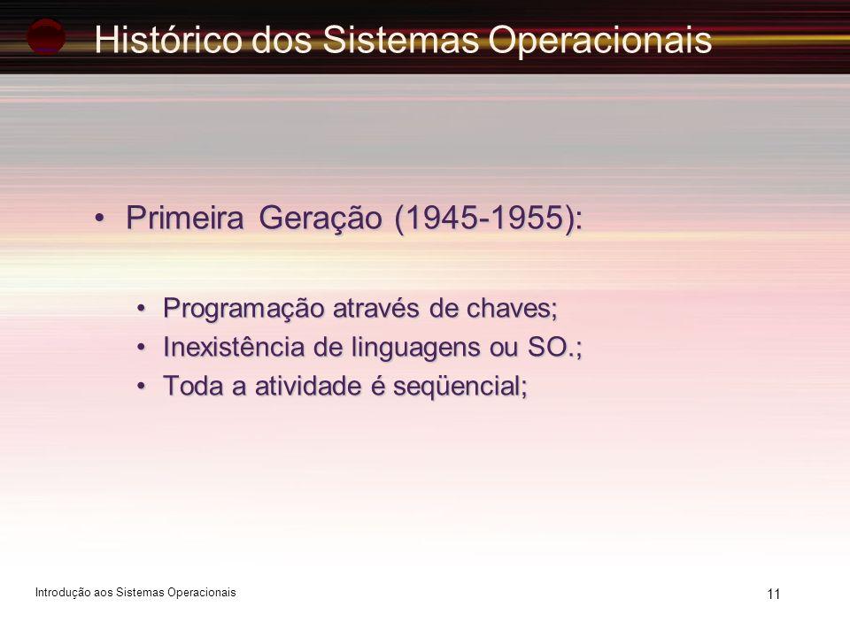 Histórico dos Sistemas Operacionais