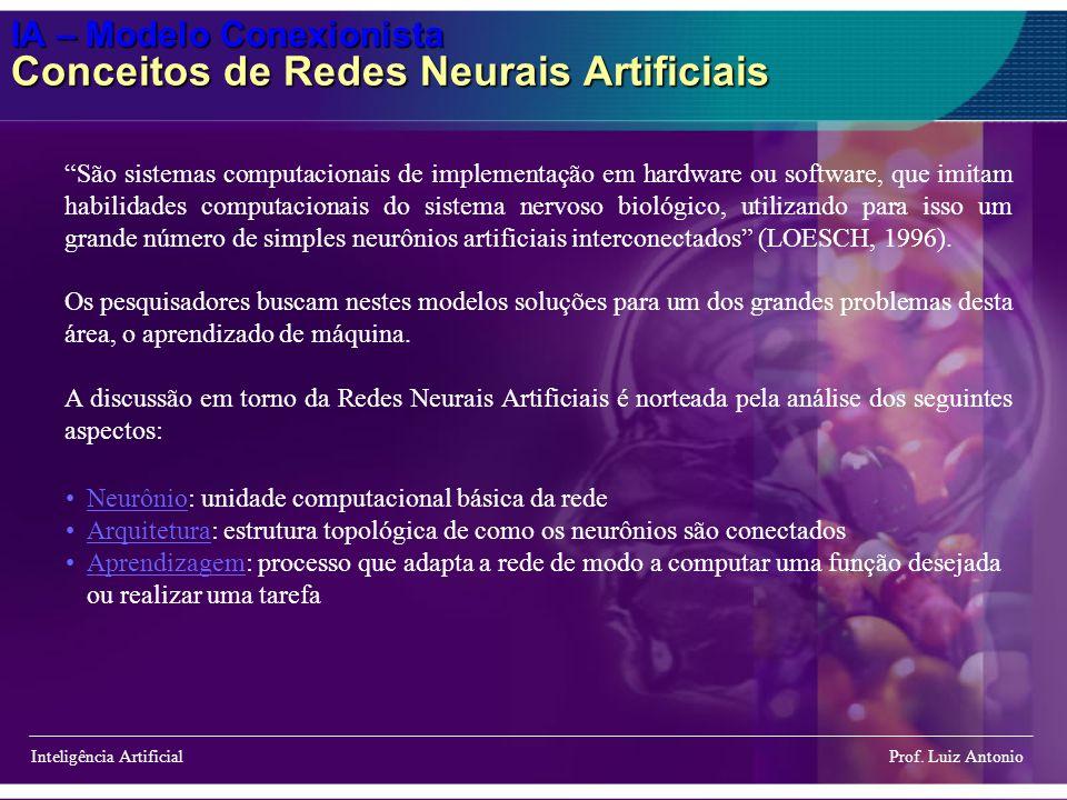 IA – Modelo Conexionista Conceitos de Redes Neurais Artificiais