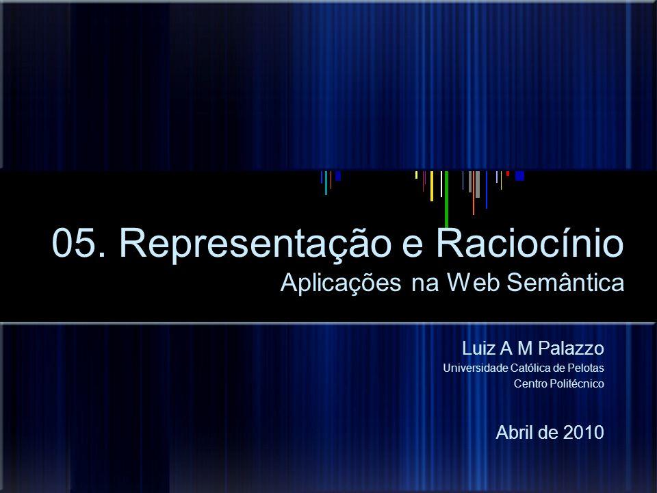 05. Representação e Raciocínio Aplicações na Web Semântica