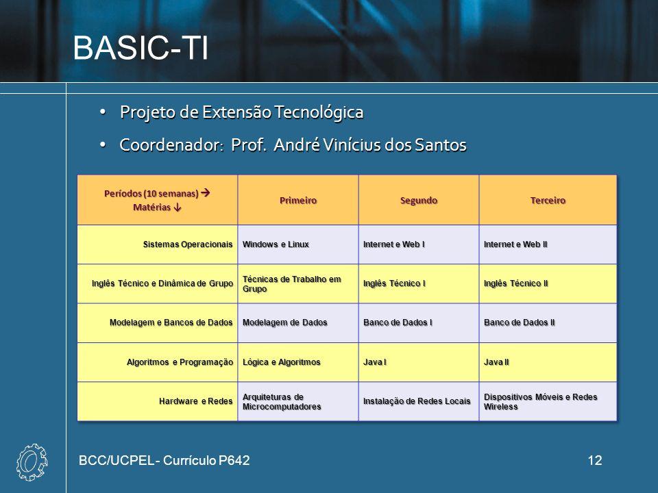BASIC-TI Projeto de Extensão Tecnológica
