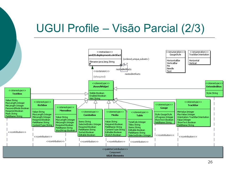 UGUI Profile – Visão Parcial (2/3)