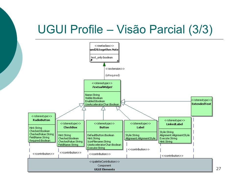 UGUI Profile – Visão Parcial (3/3)