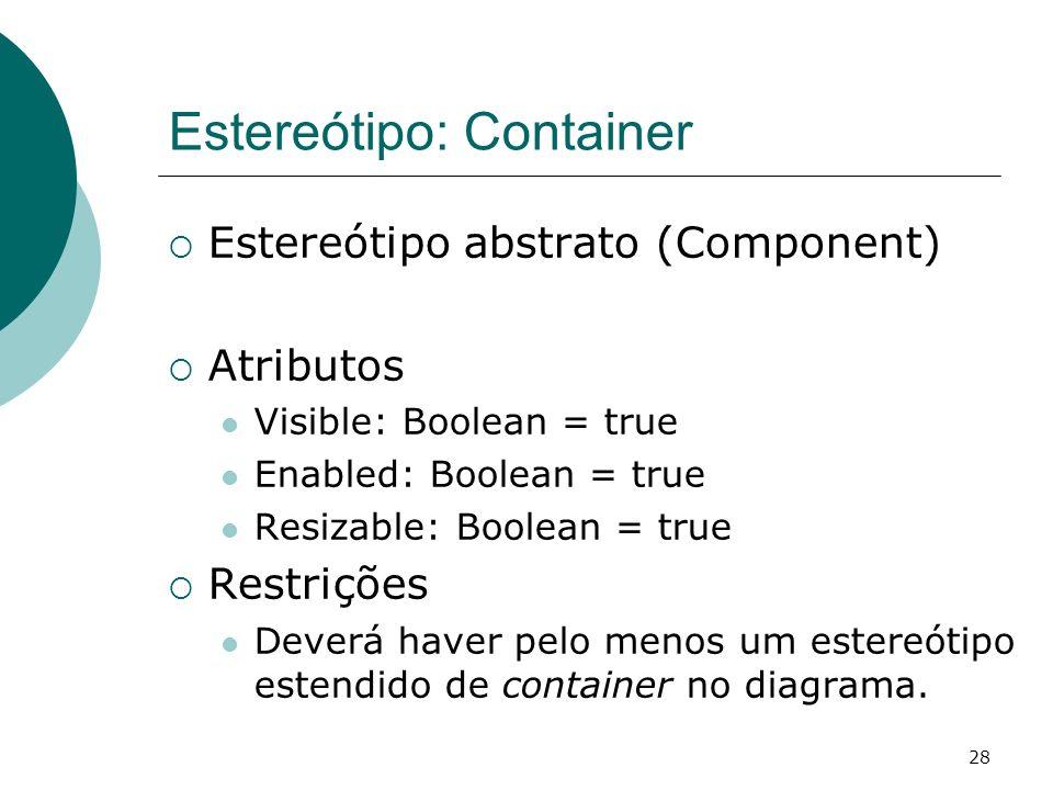 Estereótipo: Container
