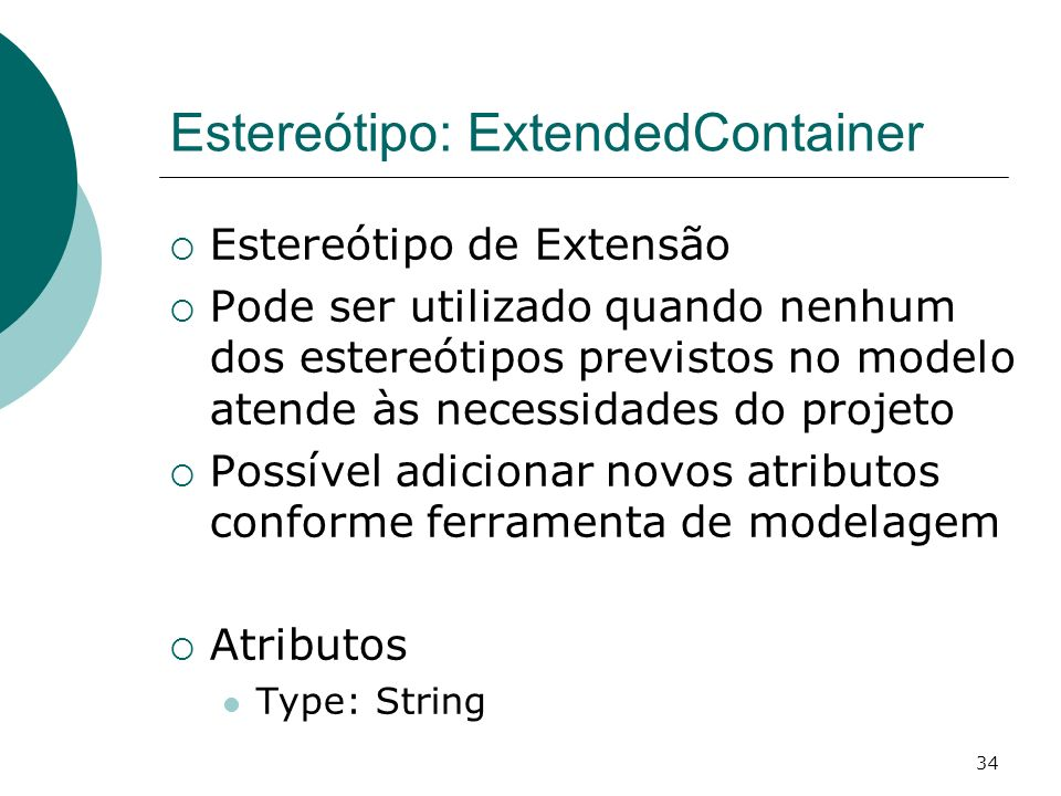 Estereótipo: ExtendedContainer