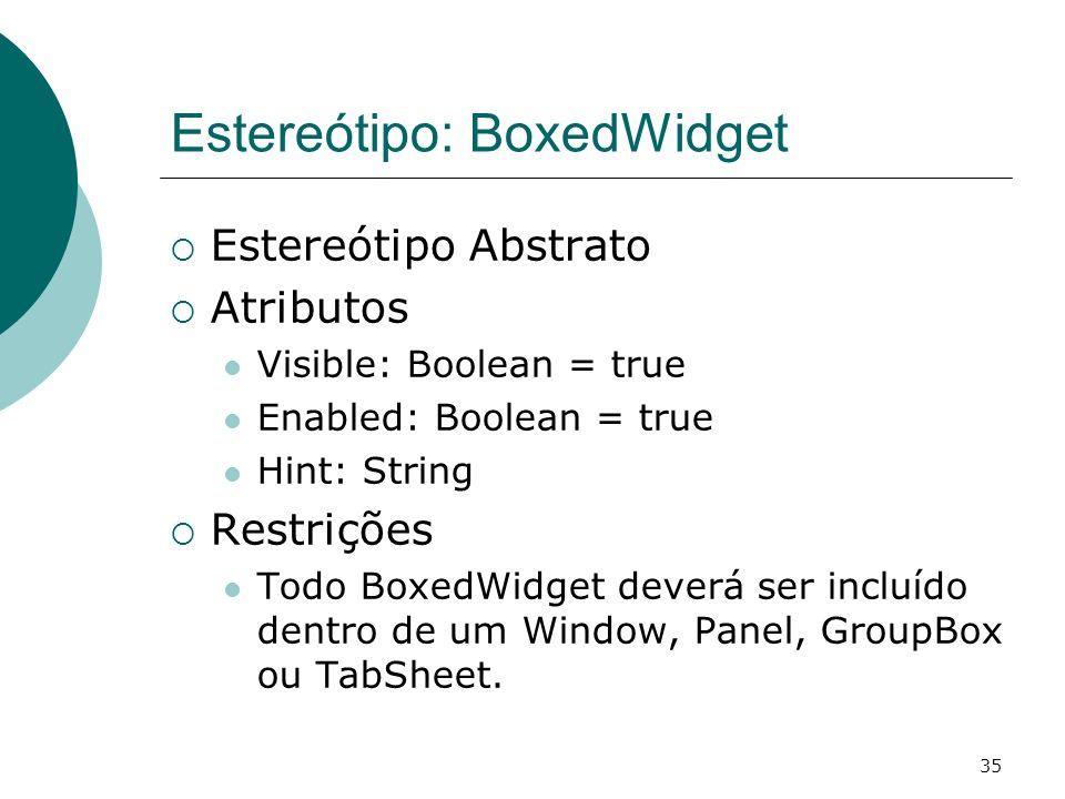 Estereótipo: BoxedWidget