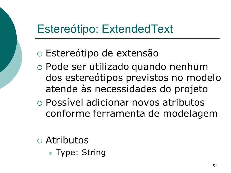 Estereótipo: ExtendedText