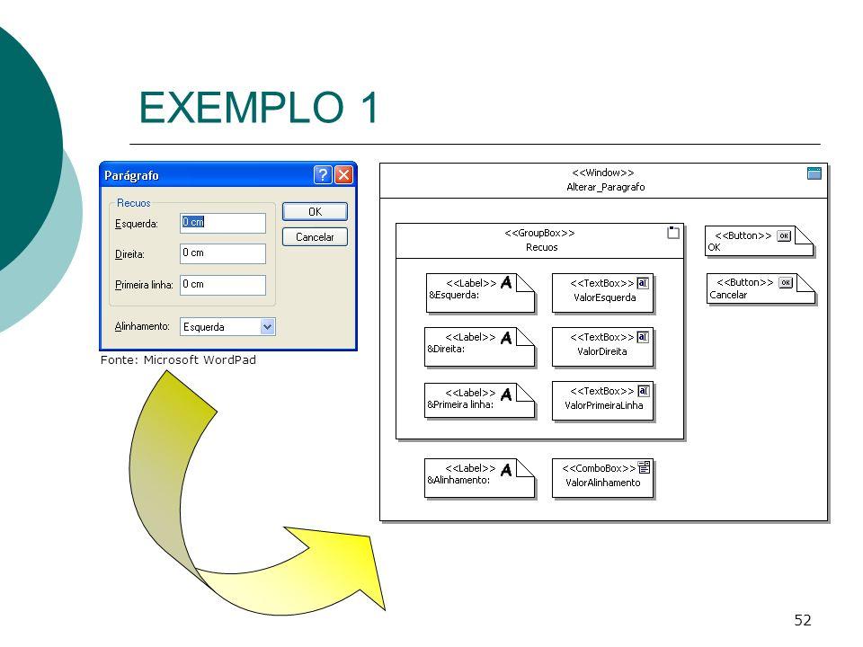 EXEMPLO 1 Fonte: Microsoft WordPad