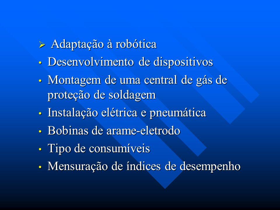 Adaptação à robótica Desenvolvimento de dispositivos. Montagem de uma central de gás de proteção de soldagem.