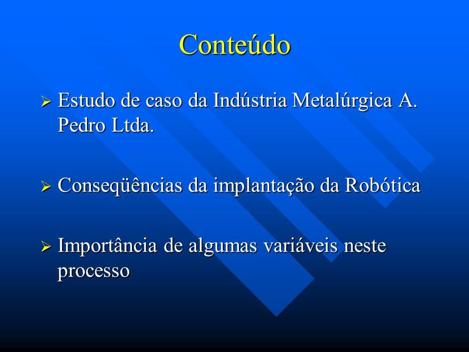 Conteúdo Estudo de caso da Indústria Metalúrgica A. Pedro Ltda.
