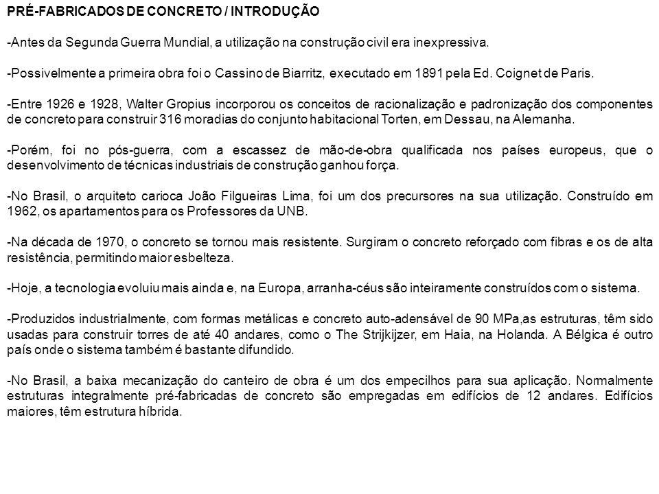 PRÉ-FABRICADOS DE CONCRETO / INTRODUÇÃO