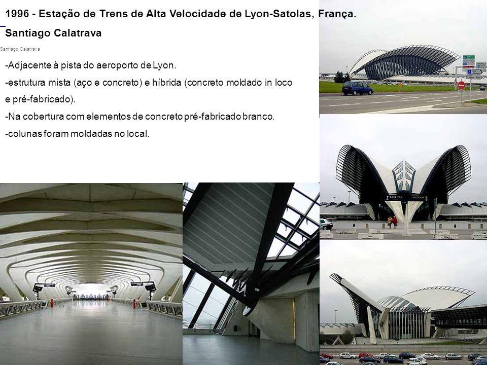 1996 - Estação de Trens de Alta Velocidade de Lyon-Satolas, França.