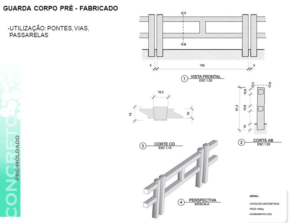 GUARDA CORPO PRÉ - FABRICADO