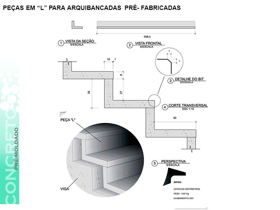 PEÇAS EM L PARA ARQUIBANCADAS PRÉ- FABRICADAS