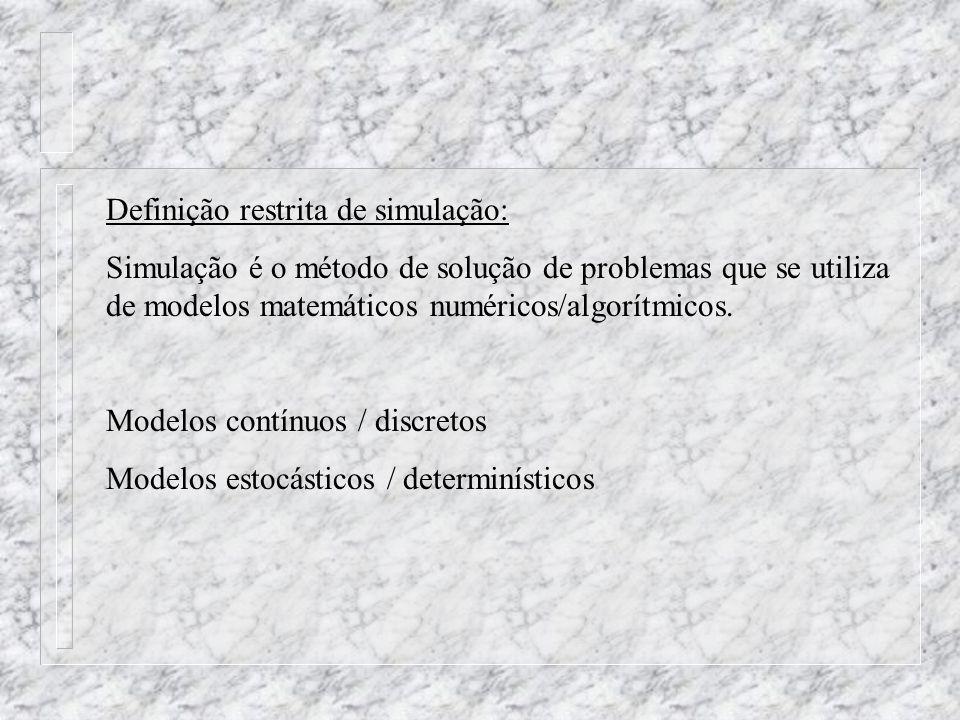 Definição restrita de simulação: