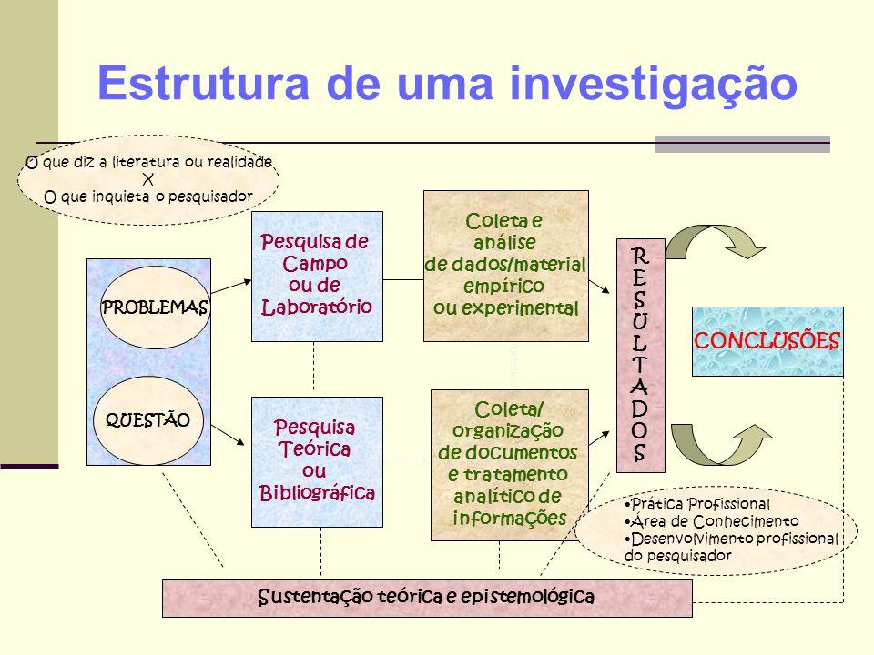 Estrutura de uma investigação