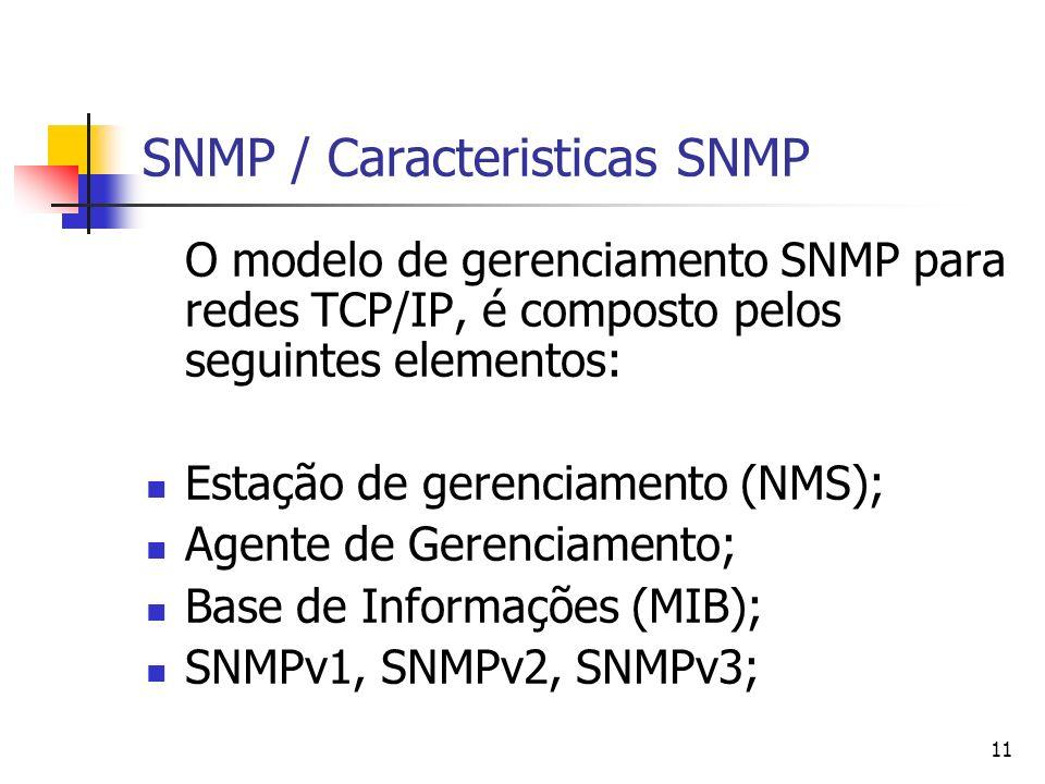 SNMP / Caracteristicas SNMP