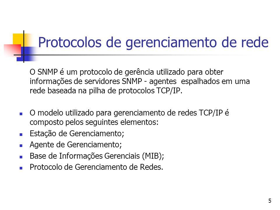 Protocolos de gerenciamento de rede