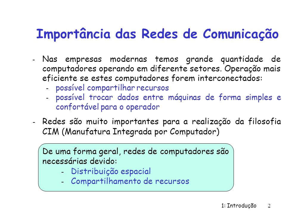 Importância das Redes de Comunicação