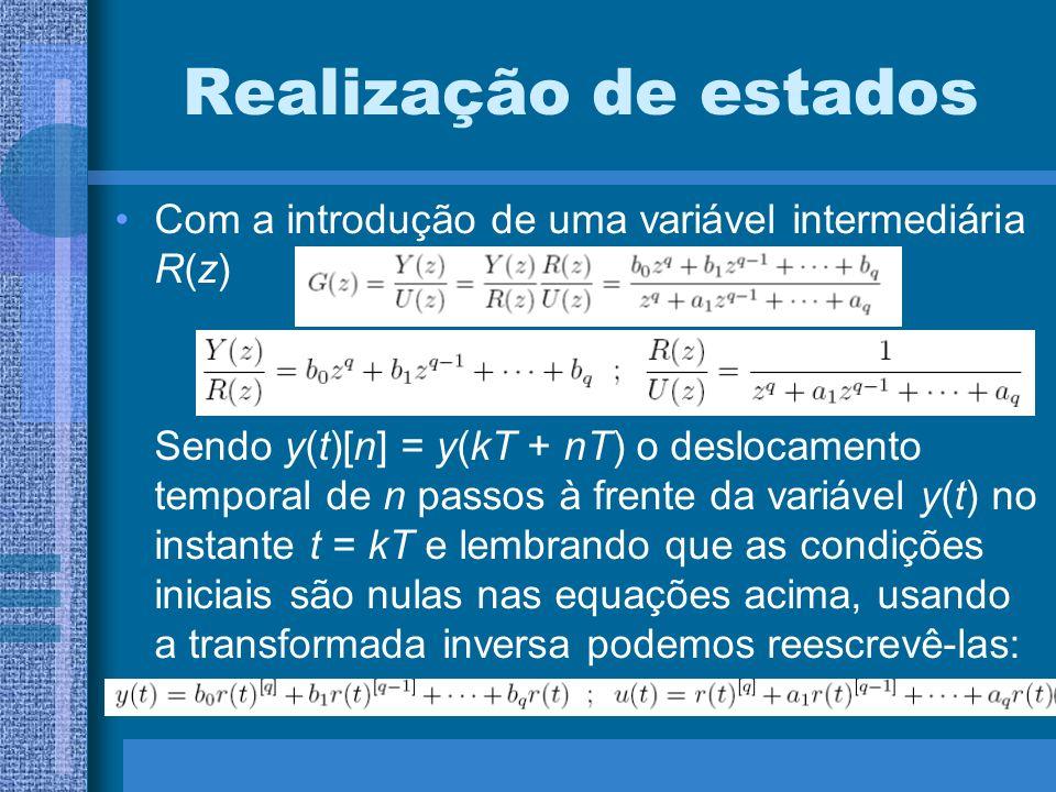 Realização de estados Com a introdução de uma variável intermediária R(z)