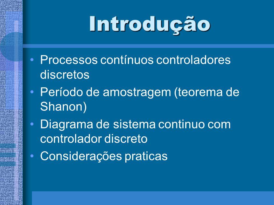 Introdução Processos contínuos controladores discretos