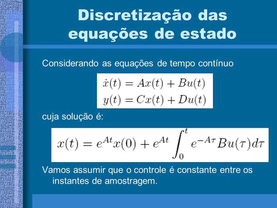 Discretização das equações de estado