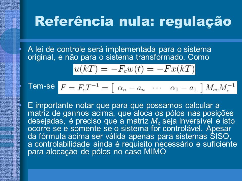 Referência nula: regulação