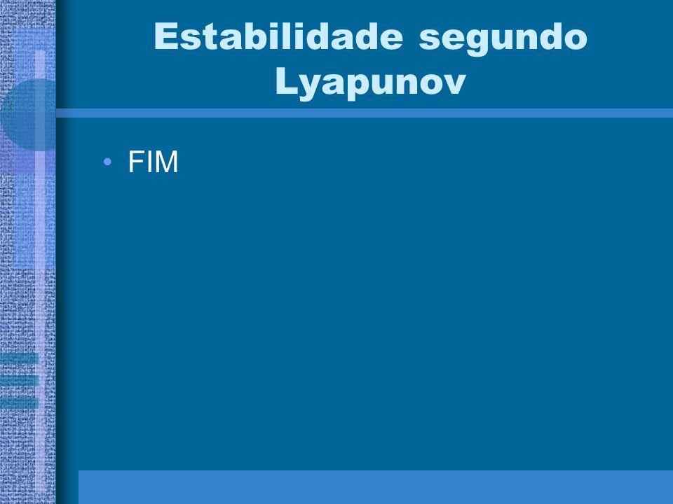 Estabilidade segundo Lyapunov