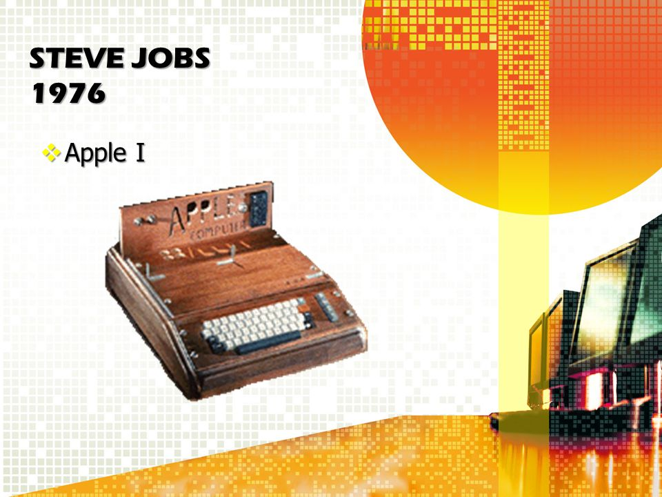 STEVE JOBS 1976 Apple I