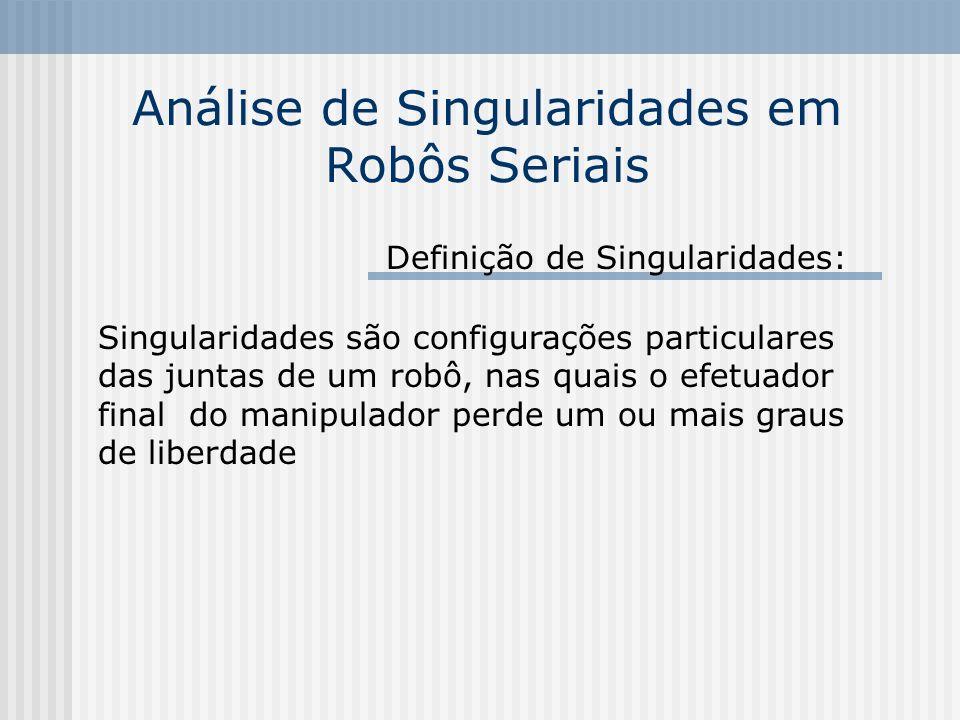 Análise de Singularidades em Robôs Seriais