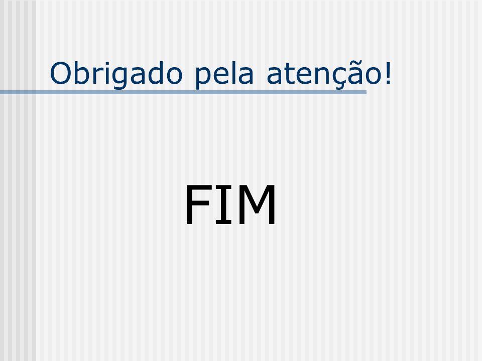 Obrigado pela atenção! FIM