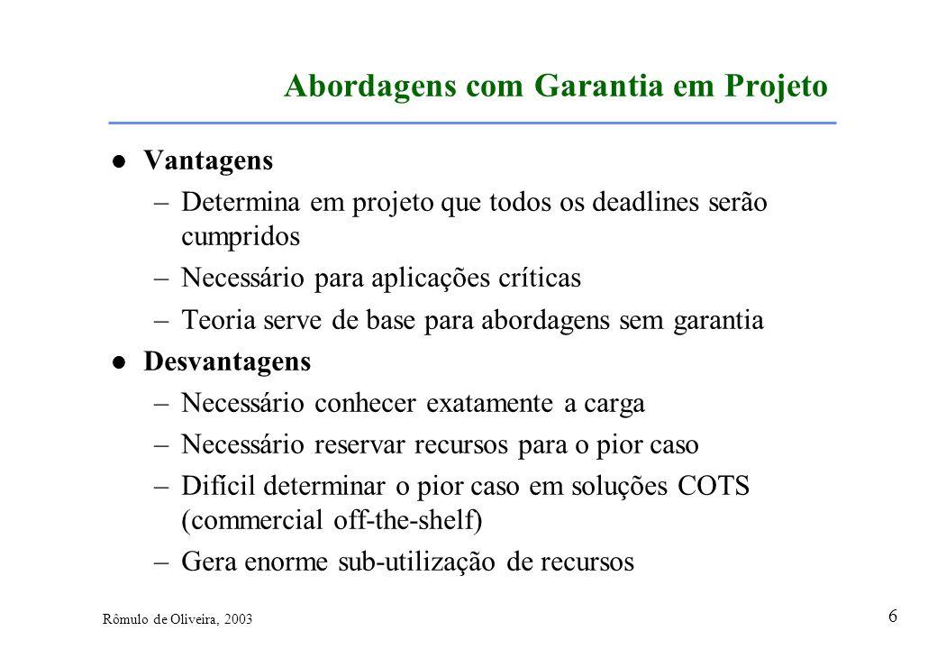 Abordagens com Garantia em Projeto