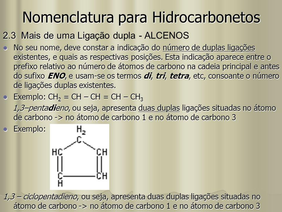 Nomenclatura para Hidrocarbonetos