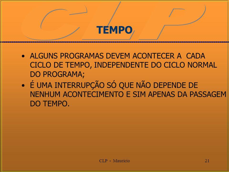 TEMPOALGUNS PROGRAMAS DEVEM ACONTECER A CADA CICLO DE TEMPO, INDEPENDENTE DO CICLO NORMAL DO PROGRAMA;