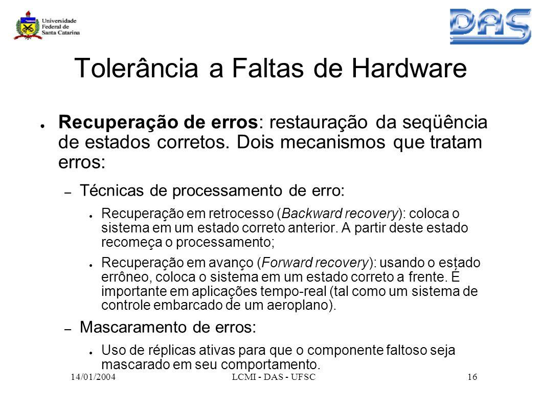 Tolerância a Faltas de Hardware