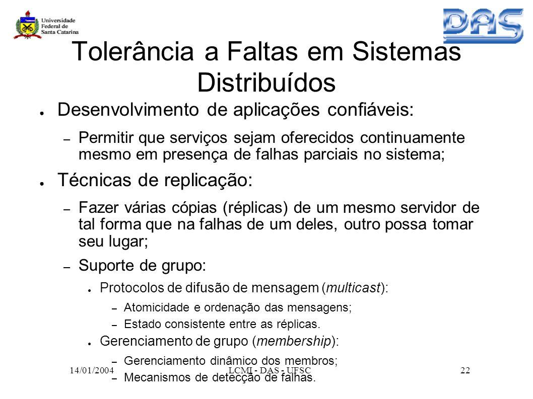 Tolerância a Faltas em Sistemas Distribuídos