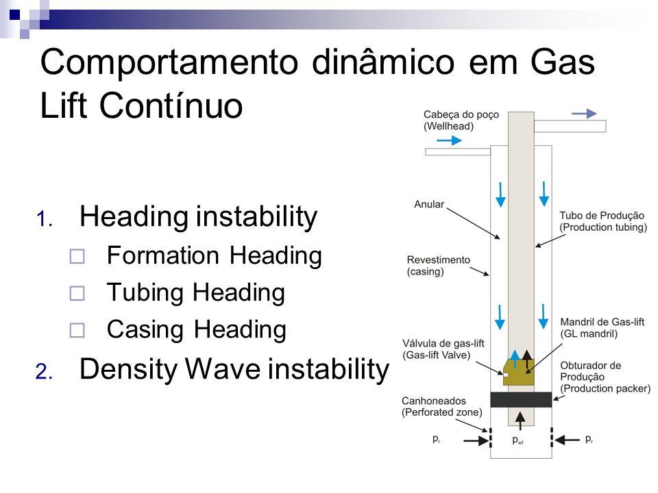 Comportamento dinâmico em Gas Lift Contínuo
