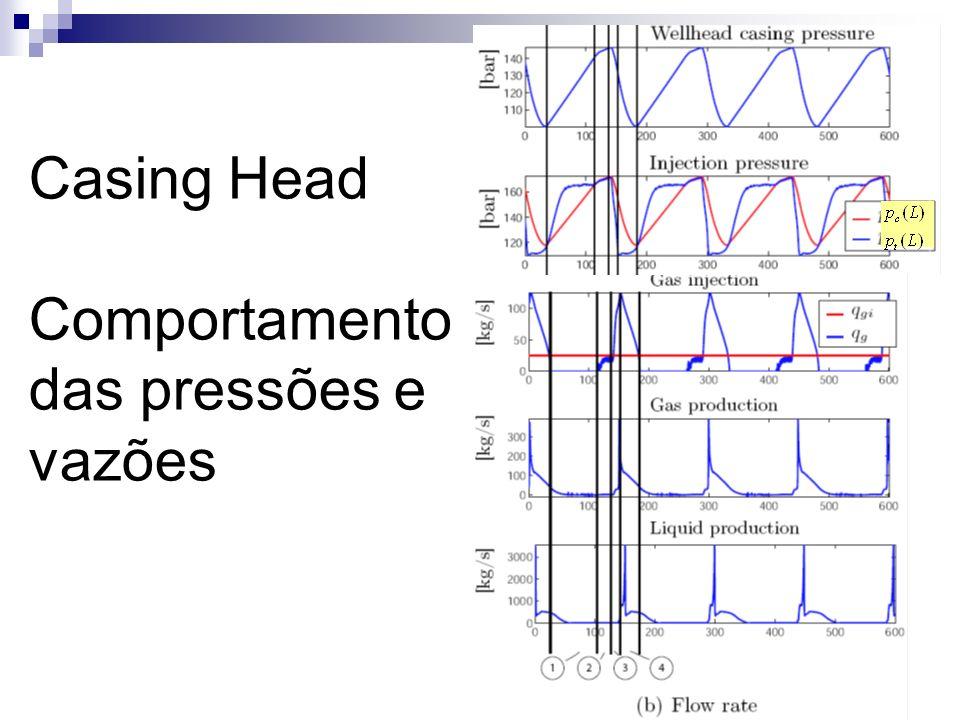 Casing Head Comportamento das pressões e vazões
