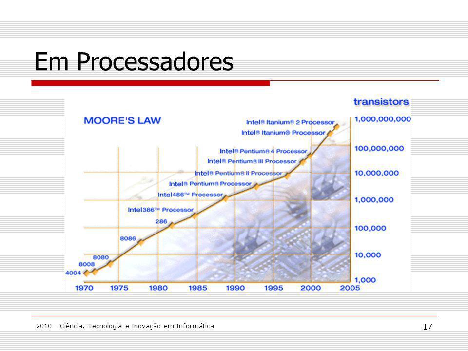 Em Processadores 2010 - Ciência, Tecnologia e Inovação em Informática
