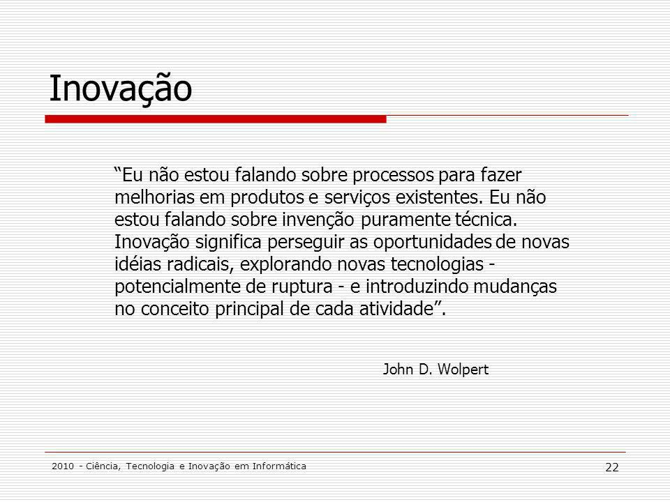 Inovação John D. Wolpert