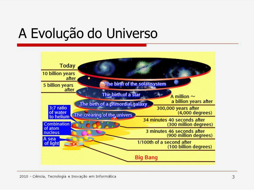 A Evolução do Universo 2010 - Ciência, Tecnologia e Inovação em Informática