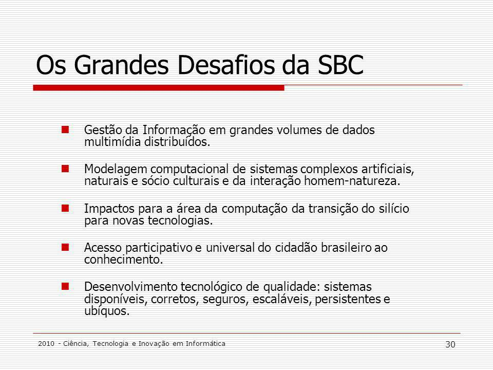 Os Grandes Desafios da SBC