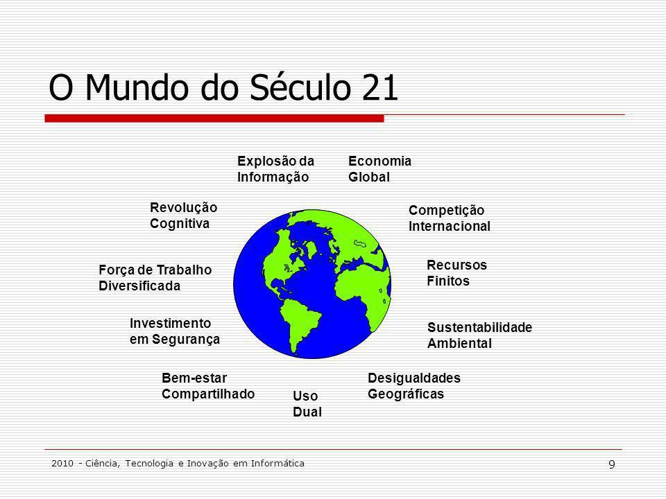 O Mundo do Século 21 Explosão da Informação Economia Global Revolução
