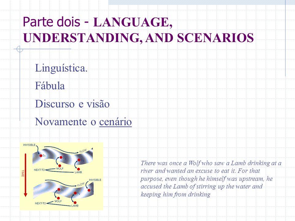 Parte dois - LANGUAGE, UNDERSTANDING, AND SCENARIOS