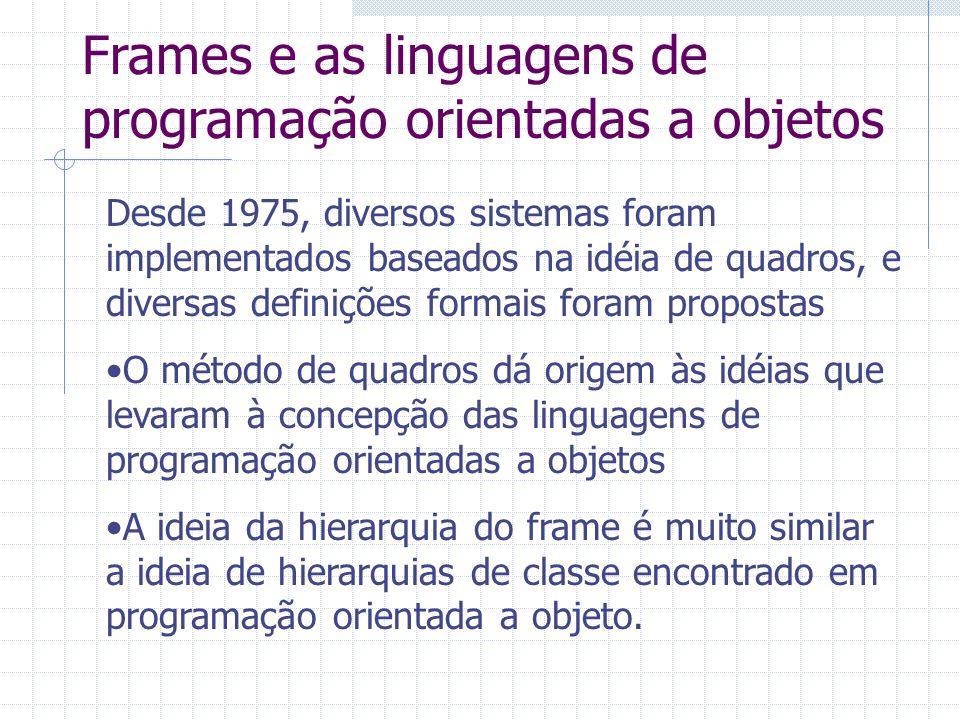Frames e as linguagens de programação orientadas a objetos
